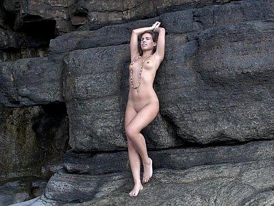 Posing on the rocks