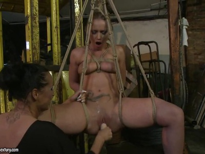 Kathia Nobili and Mandy Bright dildo fucking hard