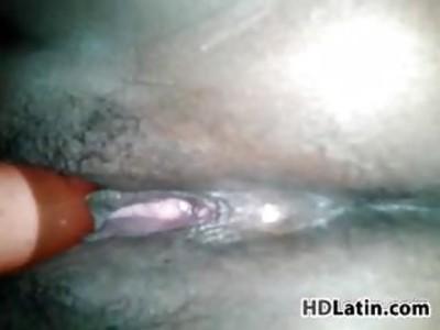 Latin Pussy Vibrating Close Up