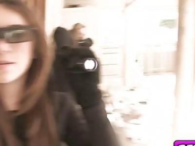 Jojo gets finger fuck by her neighbor in her teen pussy