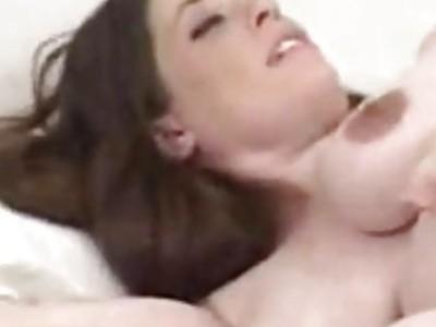 My pregnant GF Liza toys herself to an orgasm