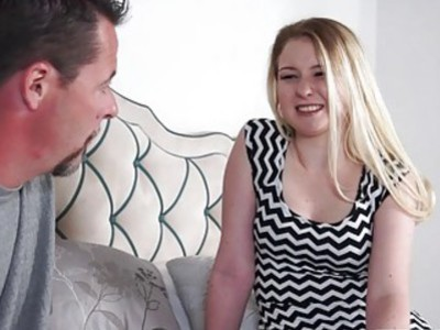 Sophie Sativa takes in her dads big cock doggystyle