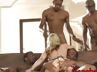 Big tits woma double penetrated by massive black cocks