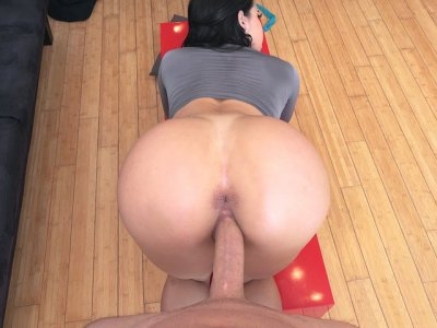 Valerie Kay getting doggystyled on the floor in POV