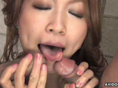 Milf sucking a cock after she gets sex toy fucked