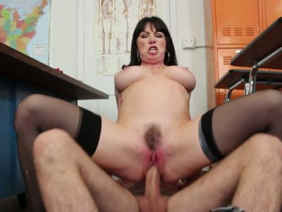Sexy curvy bitch Rayveness rides the cock fiercely