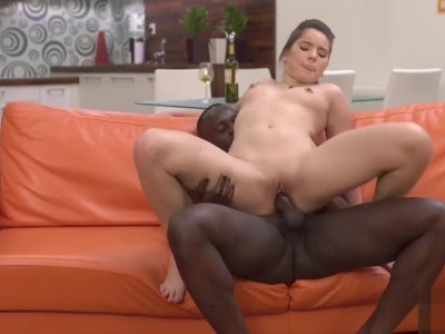 Nice lady loves how big cock feels in her throat and pussy
