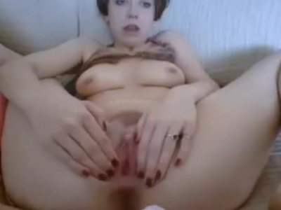 clit rubbing with dildo insertion