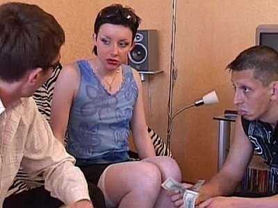 Russian threesome at home