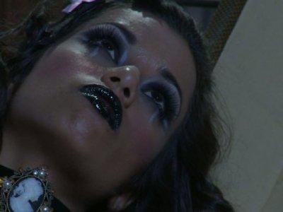 Nasty magician uses his powers to fuck sex doll Aleksa Nicole