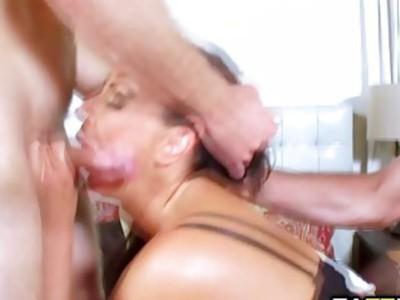Reagan Foxx getting two tag team cocks