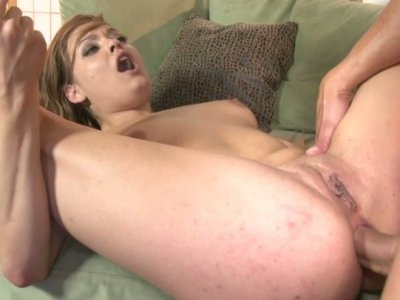 Sexciting anal sex session with adorable chubby babe Ashlynn Leigh