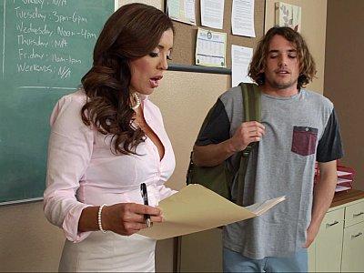Horny teacher forces student
