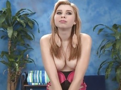 Playgirl shows off her cock engulfing skills
