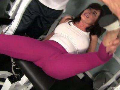 Whorish brunette Bella Roxx seduces her horny instructor Billy Glide