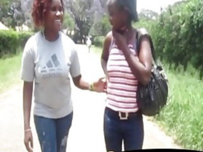Sexy Marjani and her horny African girl go in bathroom for hot lesbian action