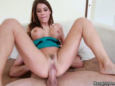 Curvy redhead MILF Aleksa Nicole gets screwed by fat cock