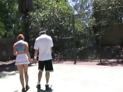Two cutie besties enjoyed pussy pounding with tennis coach