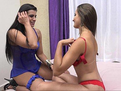 Brazilian lezdom ass eating
