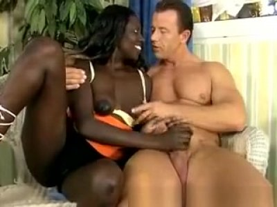 Beautiful African Babe Gets Some Hardcore Interracial Sex