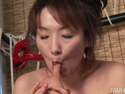 Naughty asian slut Miki facesitting and getting her wet pussy eaten