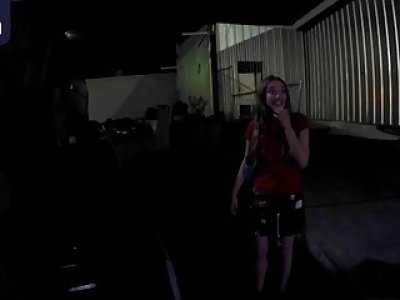 Big ass sluts seduce guy and fuck on backseat of his tow truck