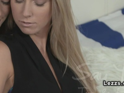 Brunette rubs pussy while gets fingered