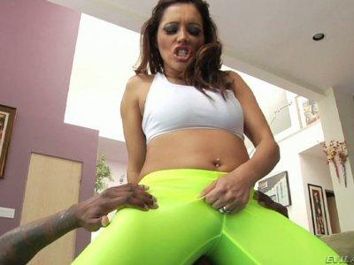 Francesca Le facesits Jon Jon and sucks his dick deepthroat