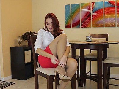 Redhead in the spotlight