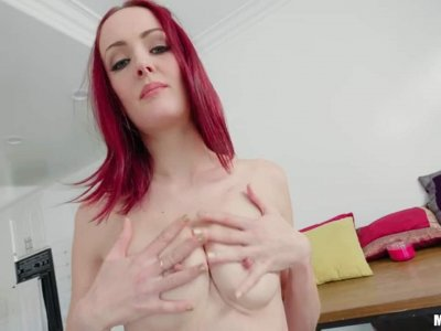 Pale Cutie Begs For Cock