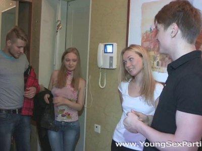 Young Sex Parties Lina Napoli Inga Zolva Teens fuck and shoot it on cam
