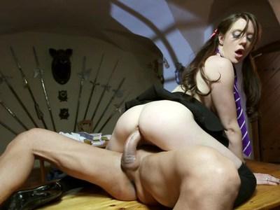 Samantha Bentley fucking her tutor