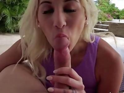 Big juggs blonde girlfriend first time anal sex outdoors