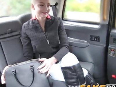 Slutty Kayla ravaged on the car seat by the taxi driver