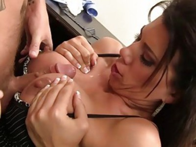 Bigtits milf boss prefers doggy penetration
