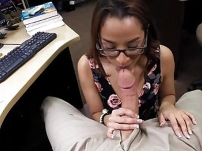College girl pawns her books and drilled