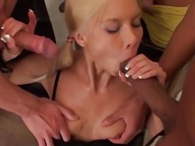 Hard Fucked three young blonde xxx