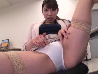 Japanese panty tease