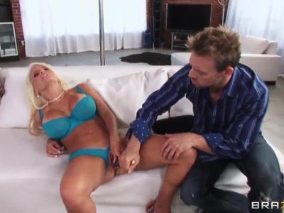Busty wonderful prostitute makes happy Erik Everhard
