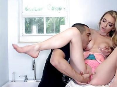 Petite blonde amateur girlfriends videotaped fucking