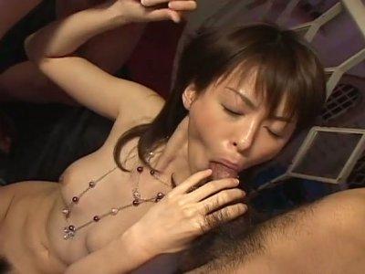 Adorable and hot slut Ai Himeno moans while riding a cock joyfully