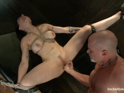 Tied Annika gets fucked