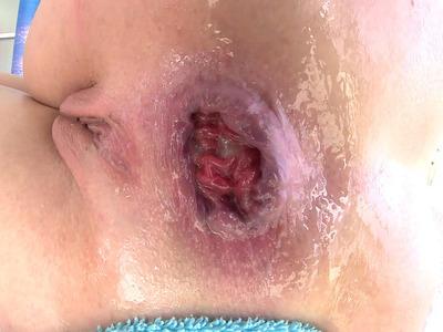 Dollie Darko spreads her butt cheeks for an intense anal reaming
