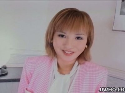 Hot tempered Japanese milf Yuu Katagiri shows off her charms concealed under panties